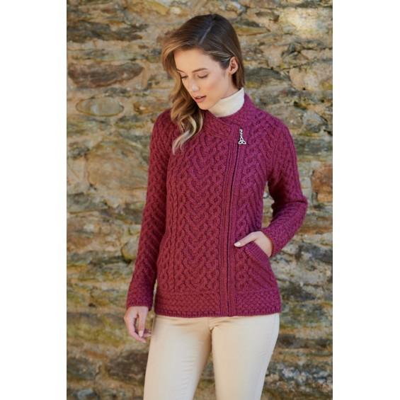West End Knitwear - Strickjacke für Damen mit seitlichem Reißverschluss