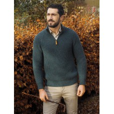 West End Knitwear - Herren-Troyer aus Merinowolle in Rippstrick