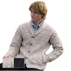 West End Knitwear - Strickjacke für Herren aus Merinowolle mit Knöpfen