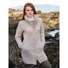 West End Knitwear - taillierte Damen-Strickjacke mit Taschen und Zwei-Wege-Reißverschluss