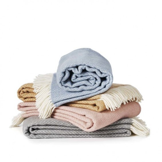 Klippan Flow Premium Wolldecke mit Merino-Wolle