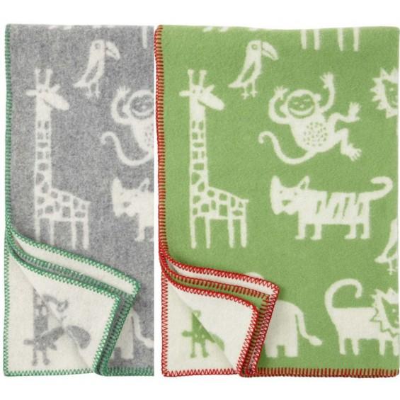 Klippan Jungle Kinder-Wolldecke Öko-Tex