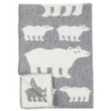 Klippan Polar Bear Kinder-Wolldecke Öko-Tex mit Eisbär-Motiv