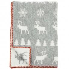Klippan Wilderness Kinder-Wolldecke Öko-Tex mit Winter-Motiv