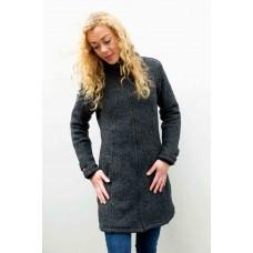 FUZAWOOL L Classic Coat - Winddichte Strickjacke für Damen