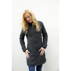 FUZAWOOL L Basic Coat FL - gefütterte Strickjacke für Damen