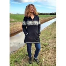 FUZAWOOL L Edna Coat FL - gefütterte Strickjacke für Damen
