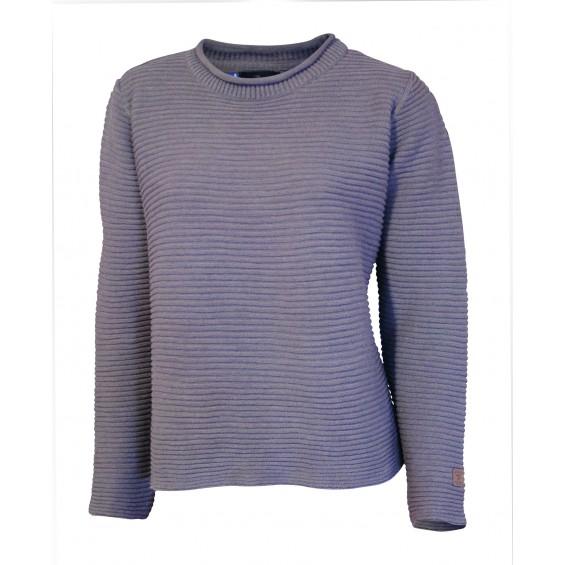 Ivanhoe - GY Haga: Damen-Pullover aus Baumwolle/Leinen-Mix in Rippenoptik