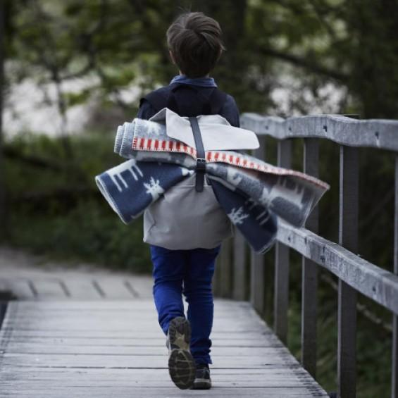 Klippan Dear Kinderwolldecke mit Reh-Motiv Öko-Tex