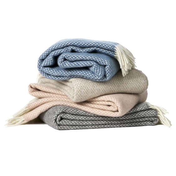 Klippan Pulse Premium Wolldecke mit Merino-Wolle