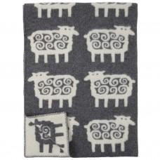 Klippan Sheep Wolldecke mit Schaf-Motiv