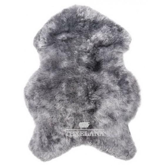 Isländer-Schaffell - in Grau gefärbt und geschoren