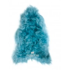 Isländer-Schaffell - in Aqua-Blau gefärbt, langhaarig