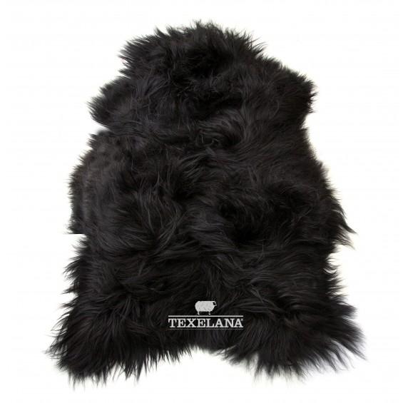Isländer-Schaffell - schwarz, langhaarig