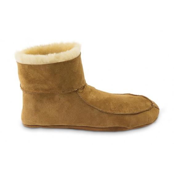 Pala: auf Texel handgefertigter hoher Pantoffel aus Schaffell