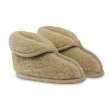 Lisa: weiche Pantoffel aus warmer Schurwolle - beige