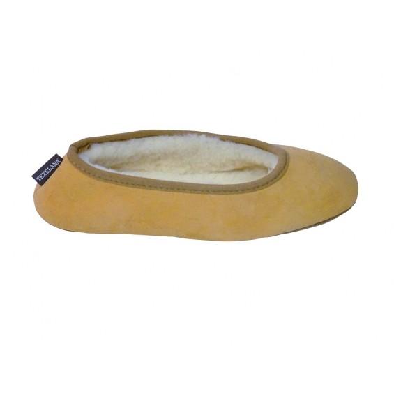 Diva: Ballerina-Pantoffel aus Schaffell