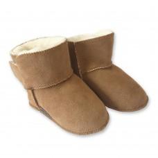 Isa: Baby-/Kinder-Pantoffel aus Schaffell mit weicher Ledersohle