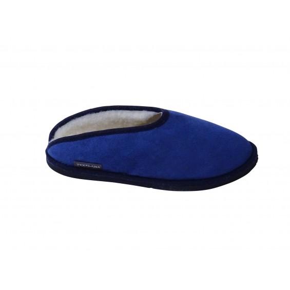 Bobba: Slipper-Pantoffel aus Schaffell in Blau
