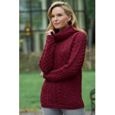 West End Knitwear - Damen-Strickpullover aus Merinowolle in Fuchsia
