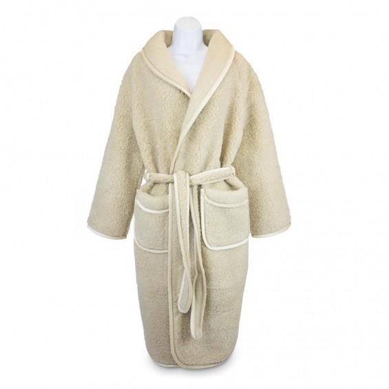 Bademantel aus Schafwolle