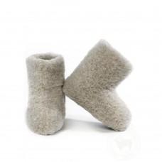 Hohe Pantoffel aus Schafschurwolle