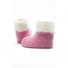 Weiche Kinderpantoffel aus Schafschurwolle