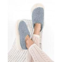 Yoko Wool Products - Siberian: farbenfroher weicher Pantoffel aus Schafwolle