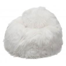 Sitzsack aus Schaffell - weiß