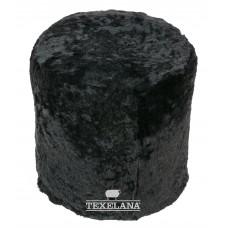 Säulenförmiges Pouf Sitzkissen aus Schaffell