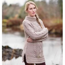 Carraigdonn Rollkragen-Pullover mit seitlichen Schlitzen