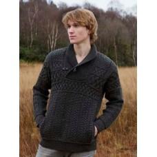 West End Knitwear - Strickpullover für Herren mit V-Hals und Taschen aus Merinowolle