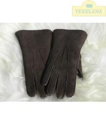 Handschuhe aus Lammsfell Dunkelbraun (solange der Vorrat hält)